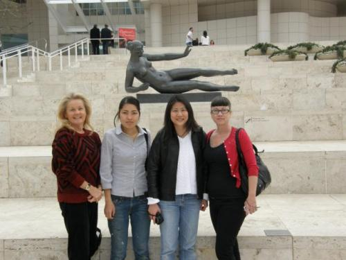 The girls and The Getty