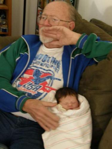 Great Grandpa and Baby